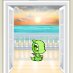 Premium Collectible: Doorway to the Ocean Background