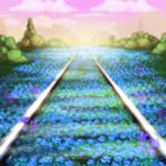 Premium Collectible: Overgrown Tracks Background