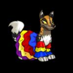 Multi-coloured Lupe Ruffle Dress