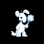 Shimmery Snowflake Wand