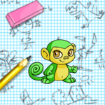 Doodle Graphing Paper Background