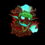 Dyeworks Green: Mutant Stylish Jet Black Wig