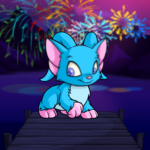 Fireworks on a Lake Background