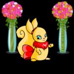 Vases of Valentine Flowers