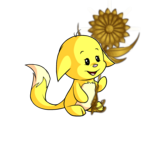 Oversized Golden Flower Staff