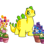 Petpet-Filled Flower Pot Foreground