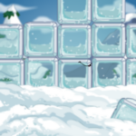 Ice Block Wall Background