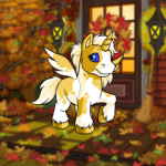 Cosy Autumn Front Porch Background