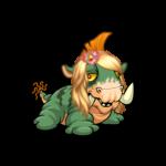 Mutant Negg Flower Wig