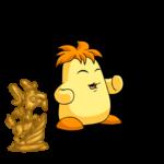 Golden Shenkuu Caprior Statue