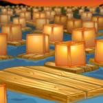 Floating Lanterns Background