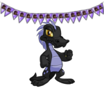 Purple Yurble Character Garland