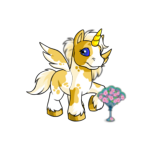 Sparkling Flower Fan
