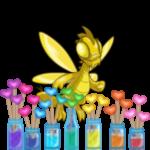 Rainbow Hearts Vase Foreground