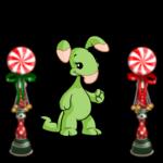 Festive Peppermint Pillars