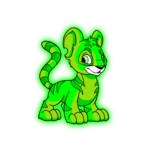 glowing kougra