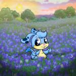 Blue Field Background