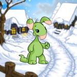 Village Snowdrift Background