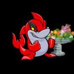 Negg and Flower Filled Planter