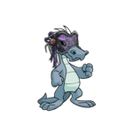 Purple Spyder Web Mask
