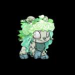 Mint and Aqua Flower Wig