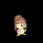 Baby Bun with Heart Headband