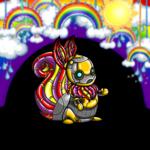 Hanging Rainbow Garland