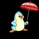 Red Chevron Umbrella