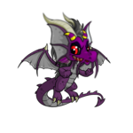Purple Monster Face Paint