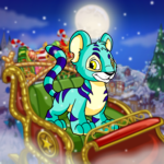 Premium Collectible: Sleigh Over Neopia Background