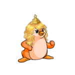 Golden Regal Wig and Crown