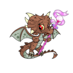 Magical Pink Orb Staff