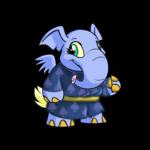 Dark Hooded Elephante Tunic