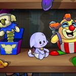 Toy Shelf Background